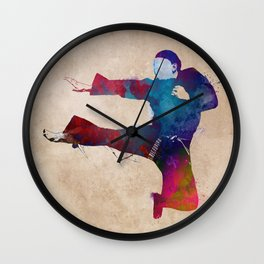 karate sport #karate #sport Wall Clock