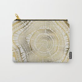 Gold Tree Rings Carry-All Pouch