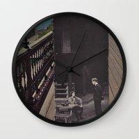 boardwalk empire Wall Clocks featuring Boardwalk by Cameron Chapleau