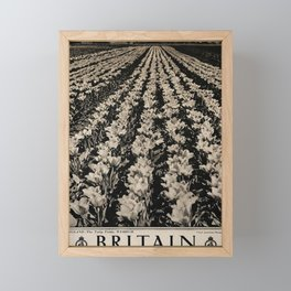 retro plakat Britain Framed Mini Art Print