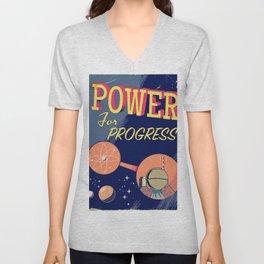 Power For Progress 1955 atomic power print. Unisex V-Neck