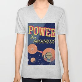 Power For Progress 1955 atomic power print. Unisex V-Neck