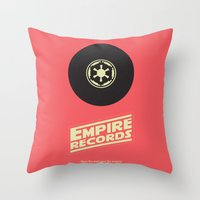 records Throw Pillows featuring Empire Records by mattranzetta