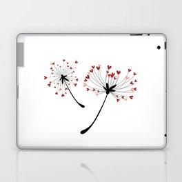 Floating Dandelion Heart Seeds by Cam Fam Creations Laptop & iPad Skin