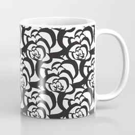 Black Floral Flower Clouds Coffee Mug