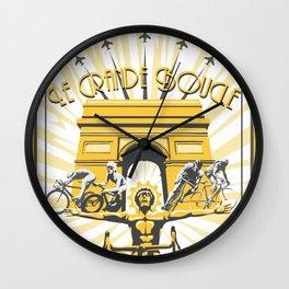 Le Grande Boucle Tour de France Wall Clock
