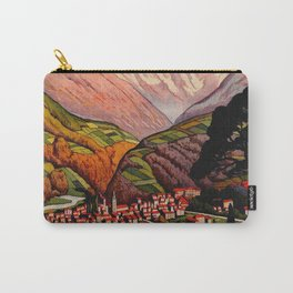 Allevard France - Vintage Travel Poster Carry-All Pouch