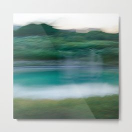Sweeping Turquoise Lake Metal Print