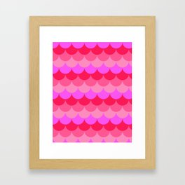 Scalloped Confetti in Neon Coral Reef Framed Art Print