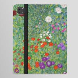 Gustav Klimt Flower Garden Floral Art Nouveau iPad Folio Case