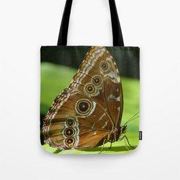 Beautiful Butterfly Wings of Meadow Brown Tote Bag