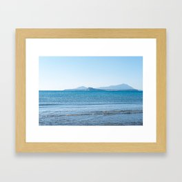 Blue sea in the Bay of Naples Framed Art Print