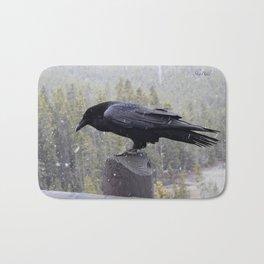 Raven of Yellowstone Bath Mat