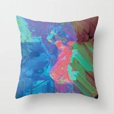 Glitchy 3 Throw Pillow