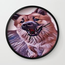 Happy Chow Chow Wall Clock