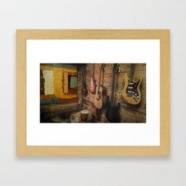 Guitar Wall of Music Framed Art Print