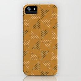 Geebung Line Triangles Pattern iPhone Case