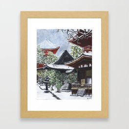 Temple in the Snow Framed Art Print