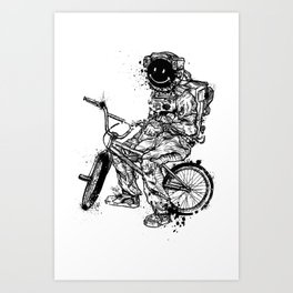 Void in Space (Blk) Art Print