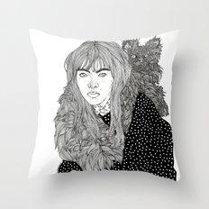 I Am Not A Cat Person Throw Pillow