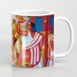 Um Pais Tropical (Spanish Guitar and Basket of Flowers) by Emiliano di Cavalcanti Coffee Mug