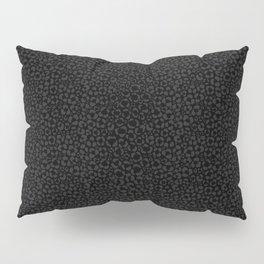 Subtle Black Panther Leopard Print Pillow Sham