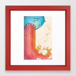 The Devil & Cake Framed Art Print