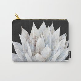 Agave White Marble Carry-All Pouch