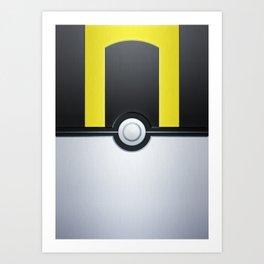 Pokéball - Ultra Ball Art Print