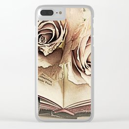 Roses on Book Library Art A113 Clear iPhone Case