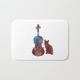 Viola Cat Art Bath Mat