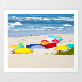 colorful summer Art Print