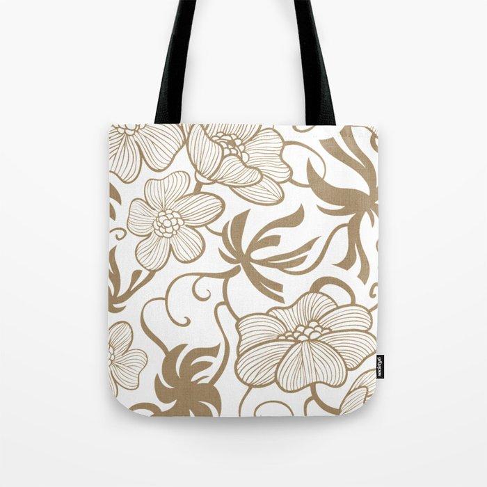Paris 1927 - Retro Vintage Botanical Tote Bag