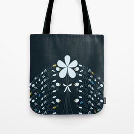 Night Garden Pattern Tote Bag
