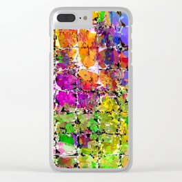 Color Buzz Clear iPhone Case