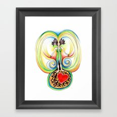 Energy Volcano Framed Art Print