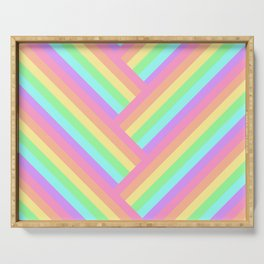 Woven Rainbow Serving Tray