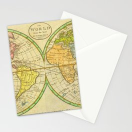 Vintage World Map 1798 Stationery Cards