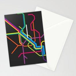 milan metro map Stationery Cards