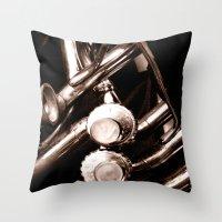 jazz Throw Pillows featuring Jazz by KunstFabrik_StaticMovement Manu Jobst