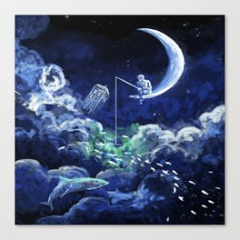 The Doctor Dreaming Of Fishing Canvas Print