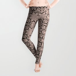 Pale Dogwood Geometric Leggings