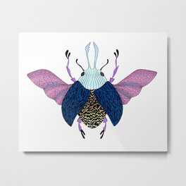 Beetle #3 Color Metal Print