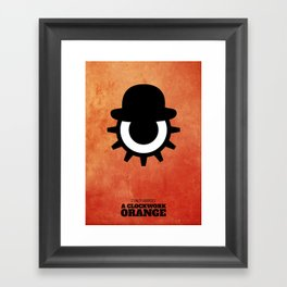 A Clockwork Orange - Minimal Framed Art Print