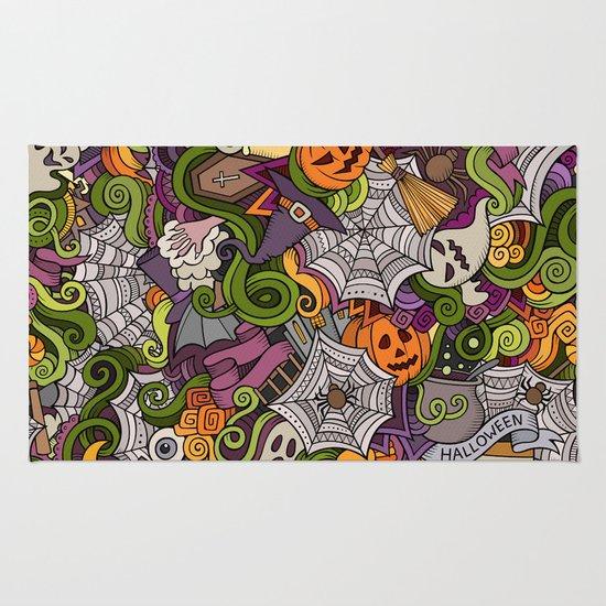 happy halloween rug - Halloween Rugs