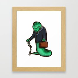 villains get old too Framed Art Print