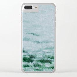 Green dream Clear iPhone Case