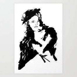 Looking Art Print