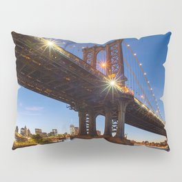 Manhattan Bridge Light night Pillow Sham