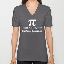 Irrational But Well Rounded Math Geek Nerd graphic Unisex V-Neck